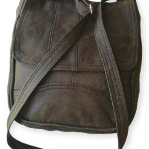 Dark Brown Leather Flap Sling Bag