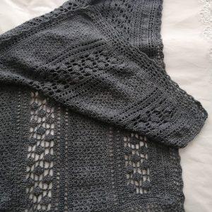 Grys langwerpige shawl
