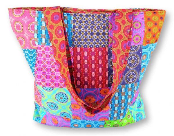Patchwork Shopping Bag - Pink