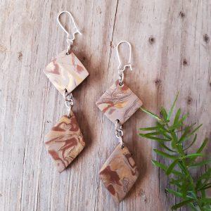 golden brown earrings