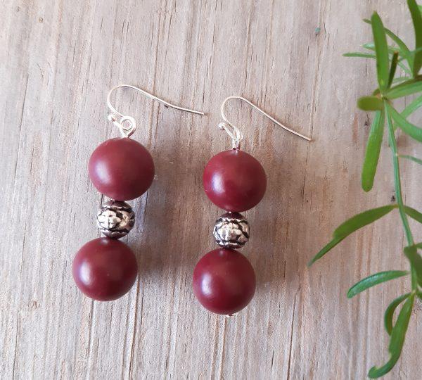 berry earrings